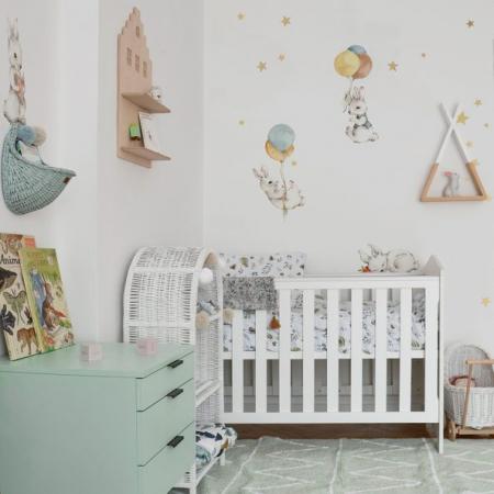Set autocolante pentru camera copiilor White Wonder Rabbits [6]