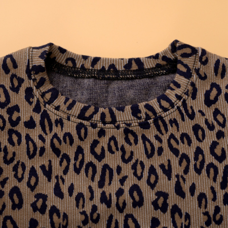 Set Bluza Leopard Si Pantaloni Pentru Fete 2-5 Ani [1]