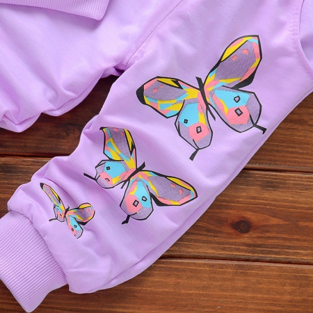Set Bluza Si Pantaloni Fluturi Roz Fete 18 Luni-5 Ani [2]