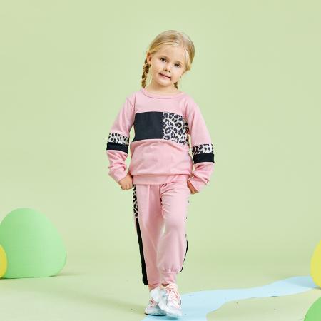 Set Bluza Si Pantaloni Leopard Roz Fete 18 Luni-5 Ani [5]
