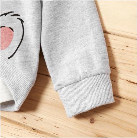 Set Bluza Si Pantaloni Panda Gri Unisex 9-12 Luni [4]