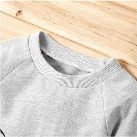 Set Bluza Si Pantaloni Panda Gri Unisex 9-12 Luni [3]