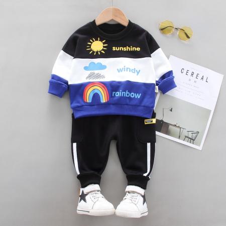 Set Bluza Si Pantaloni Sunshine Albastru Baieti 1-3 Ani [0]