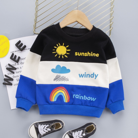 Set Bluza Si Pantaloni Sunshine Albastru Baieti 1-3 Ani [1]