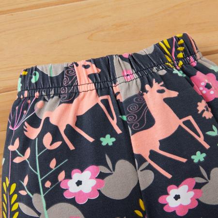 Set Bluza Si Pantaloni Unicorn Roz Fete 18 Luni-5 Ani [2]