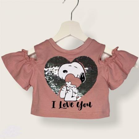 Set Fusta Si Bluza Snoopy Pentru Fetite [1]