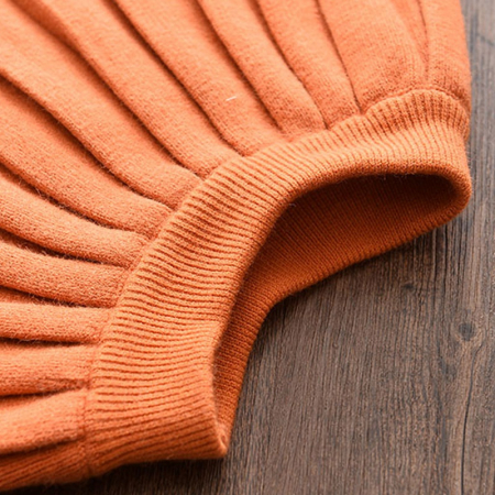 Set Fustita Si Bluza Tricotate Pentru Fetite Portocalie 18 Luni- 5 Ani [3]