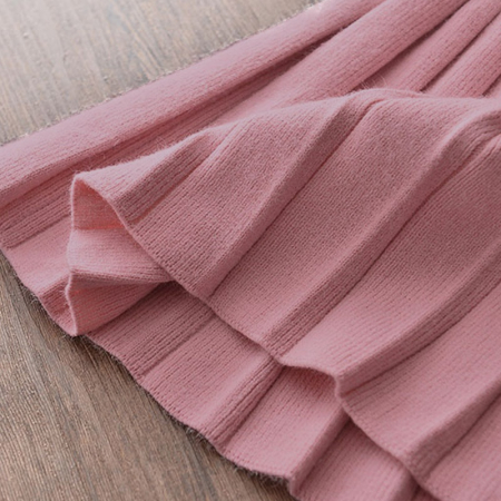 Set Fustita Si Bluza Tricotate Pentru Fetite Roz 18 Luni - 5 Ani [3]