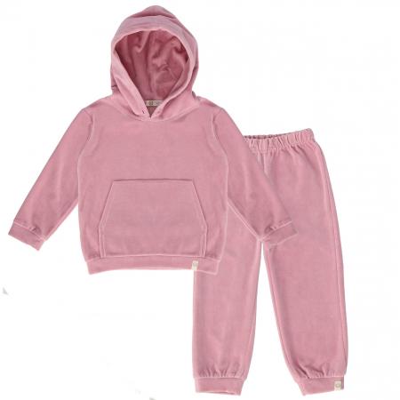 Trening Din Velur Roz Pentru Fete [1]
