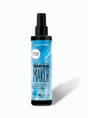 Spray texturizant cu apa de mare pentru coafura beach waves Matrix StyleLink Mess Maker, 200 ml0