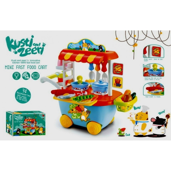 Set Mini Market Copii troler 3