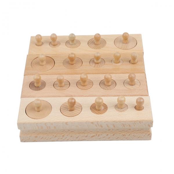 Joc de lemn Cilindrii Montessori set 4 cilindiri 1