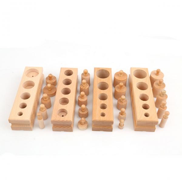 Joc de lemn Cilindrii Montessori set 4 cilindiri 2