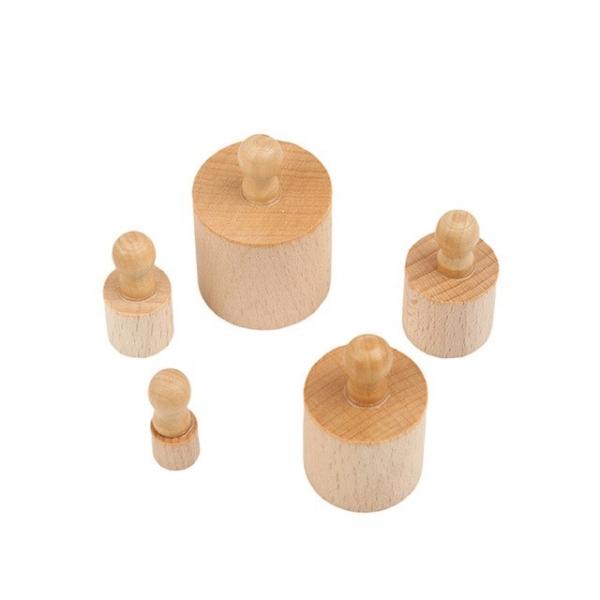 Joc de lemn Cilindrii Montessori set 4 cilindiri 4