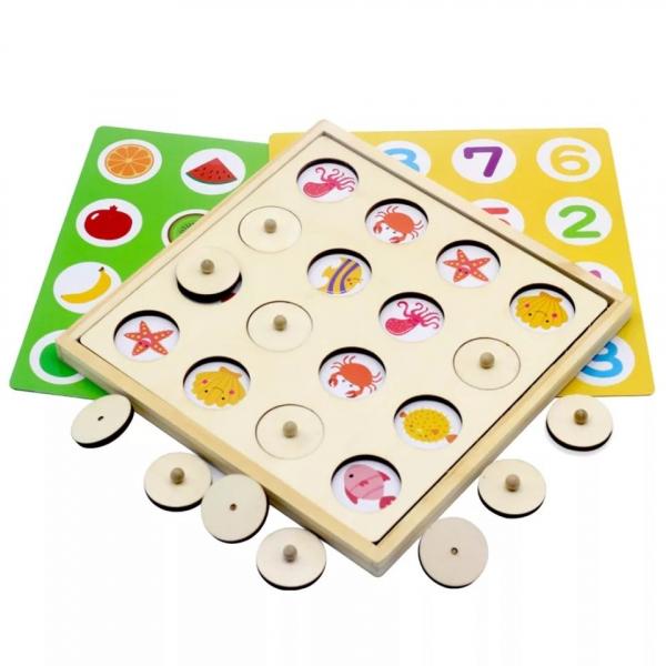Joc indemnare si memorie 2 in 1 cu bile 2