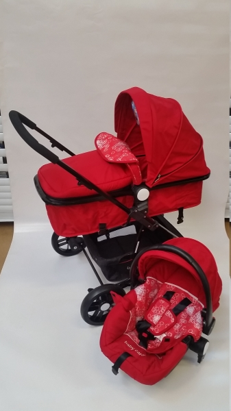 Carucior Baby Care 3 in 1 nou nascuti 0