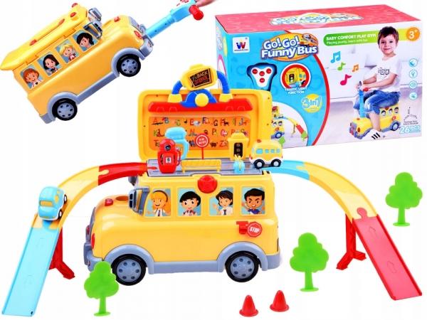Masinuta 3 in 1 Funny Bus Parcare 0
