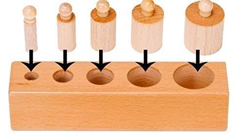 Joc de lemn Cilindrii Montessori set 4 cilindiri 6