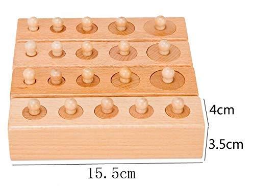 Joc de lemn Cilindrii Montessori set 4 cilindiri 7