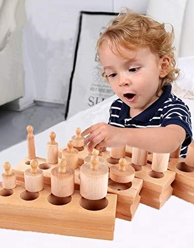 Joc de lemn Cilindrii Montessori set 4 cilindiri 0