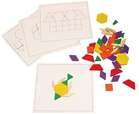 Joc din lemn Tangram Puzzle Blocks 125 piese 6