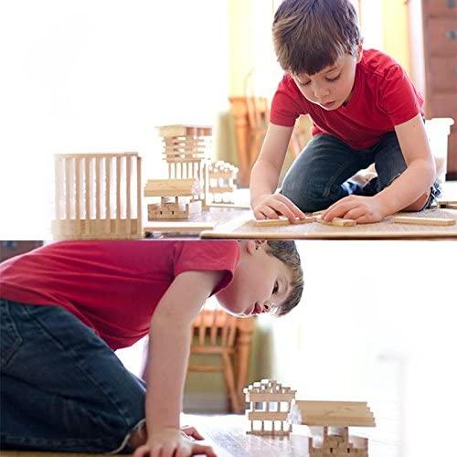 Joc de construit din lemn natur 300 de piese 5