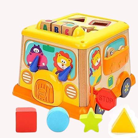 Autobuz din lemn cu centru de activitatii si sunete 3