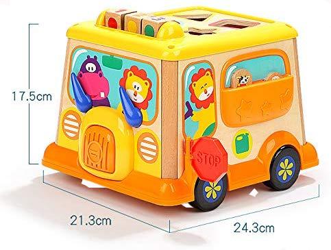 Autobuz din lemn cu centru de activitatii si sunete 4