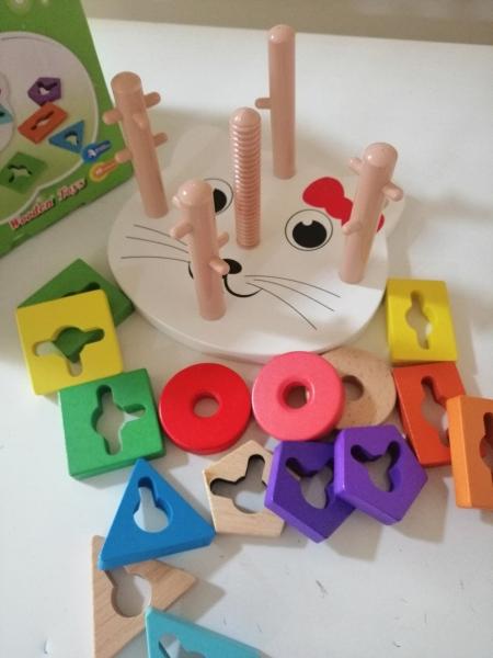 Joc lemn educativ puzzle  Pisicuta5 coloane 7
