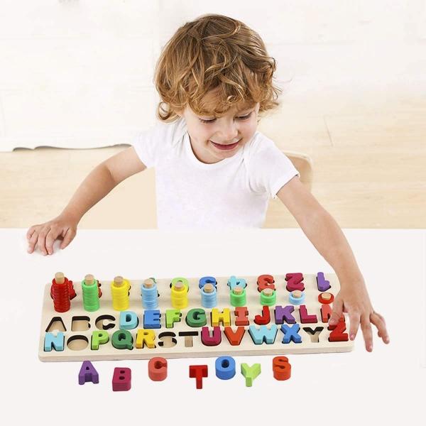 Set Puzzle din lemn Montessori sa invatam Alfabetul  4 in 1 3