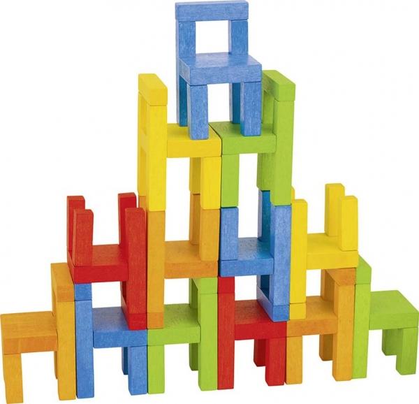 Joc din lemn Echilibru Scaunele colorate Goki 8