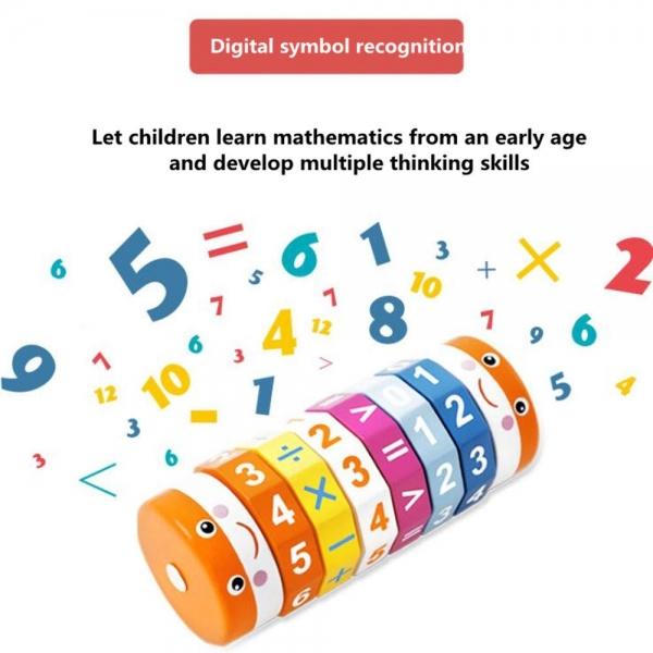 Joc Cilindru  din lemn Puzzle Aritmetic  Onshine 8