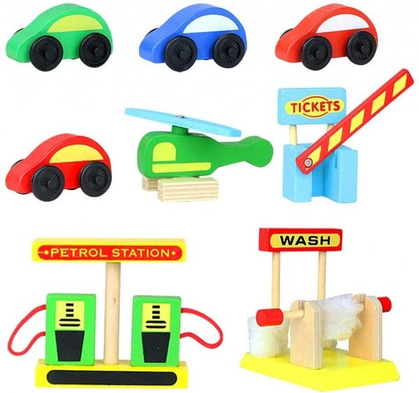 Jucarie Parcare din lemn Public Garage cu accesorii 10