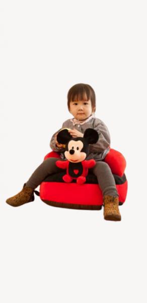 Fotoliu plus Bebe cu spatar sit up Mickey sau Minnie Mouse 1