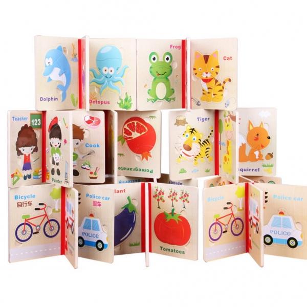 Carte puzzle pentru copii din lemn 6