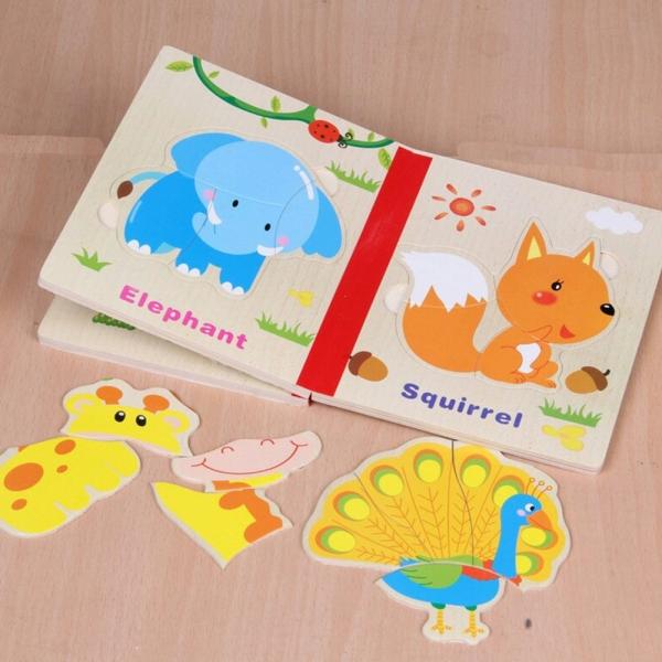 Carte puzzle pentru copii din lemn 7