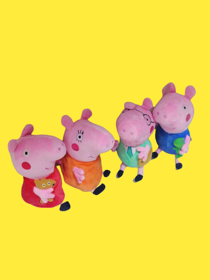 Set 4 jucarii de plus Purcelusa Peppa Pig [3]