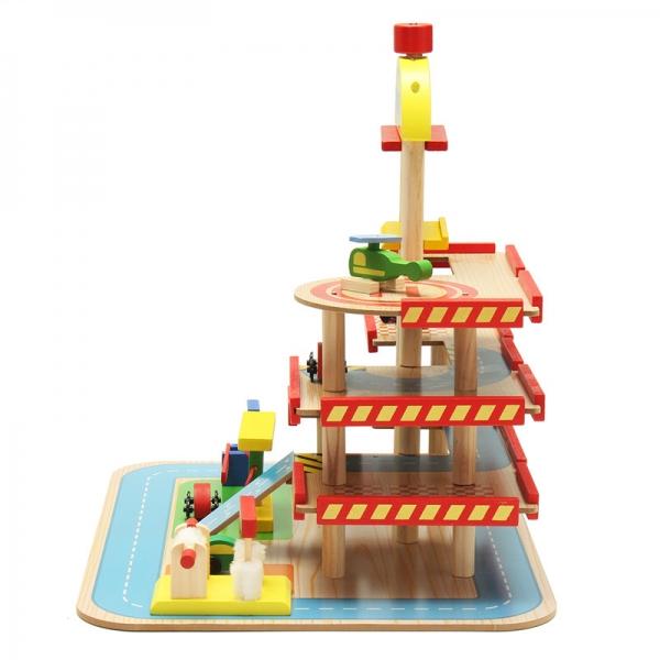 Jucarie Parcare din lemn Public Garage cu accesorii 3