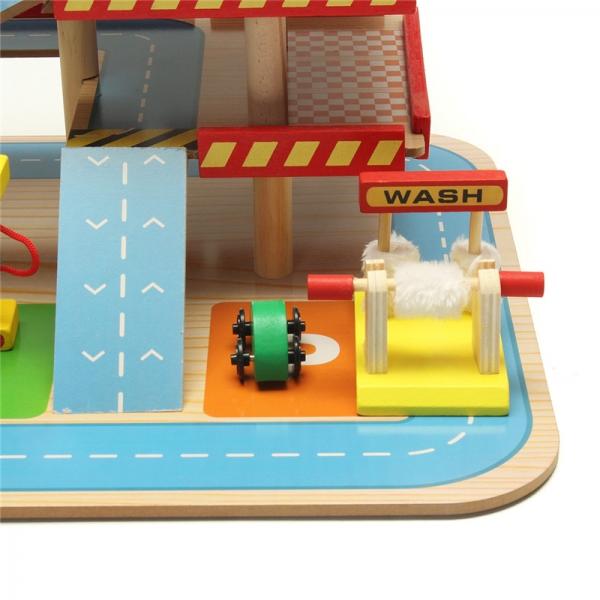 Jucarie Parcare din lemn Public Garage cu accesorii 5
