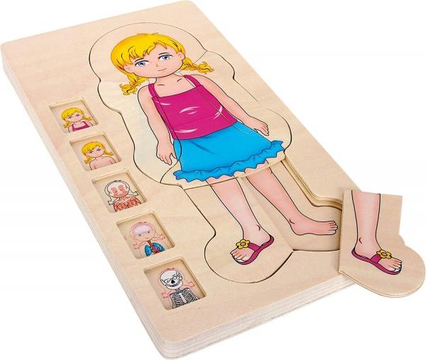 Puzzle lemn incastru Corpul uman AnatomieOnshine 0