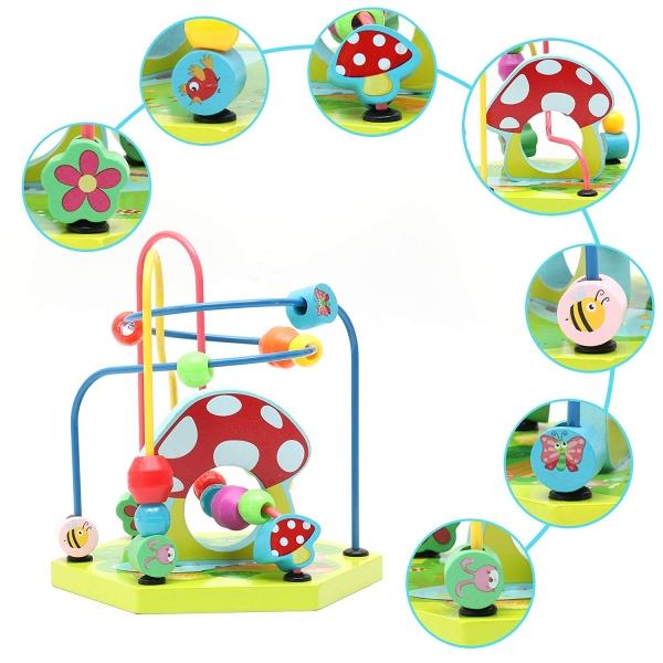 Centru de activitatii Cub multifunctional 9 in 1 Mushroom 5