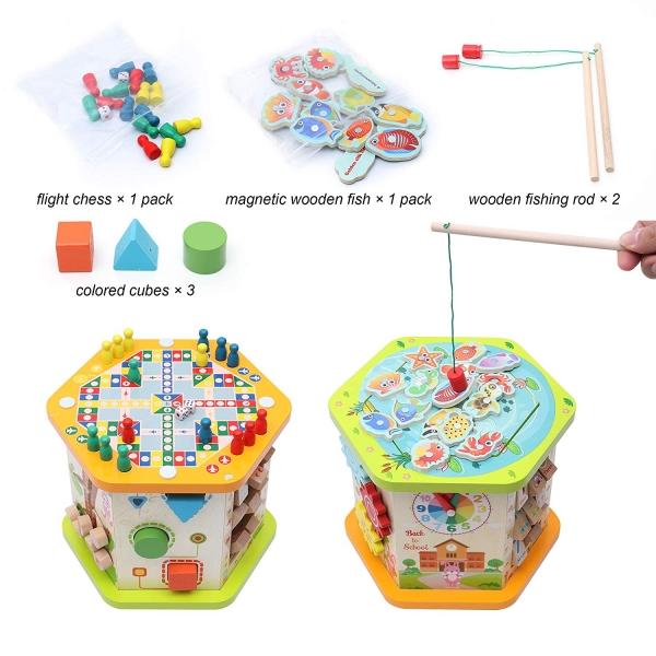 Centru de activitatii Cub multifunctional 9 in 1 Mushroom 4