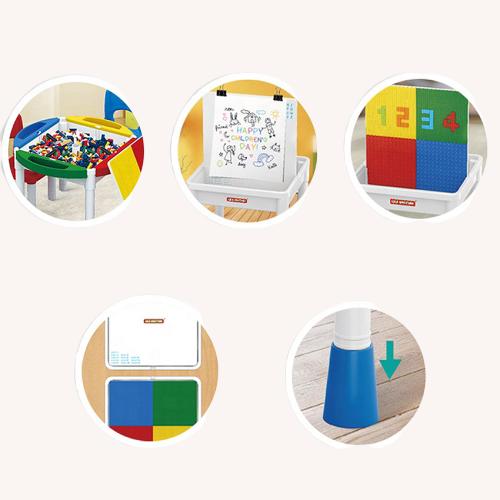 Masa Lego cu 2 scaune 2 in 1 compatibila cu piesele lego 18