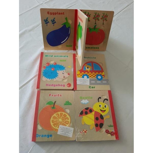 Carte puzzle pentru copii din lemn 0