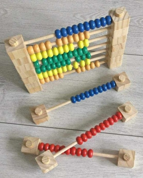 Abac Montessori din lemn multifunctional 1