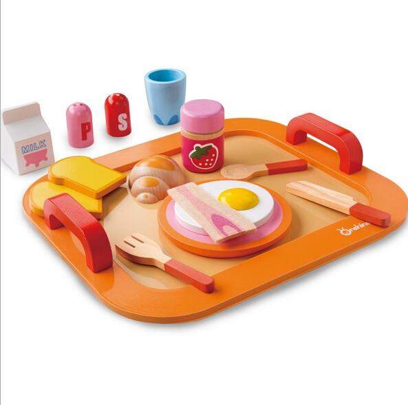 Set jucarie de lemn Micu Dejun Onshaine -Mic dejun din lemn jucarie copii 0