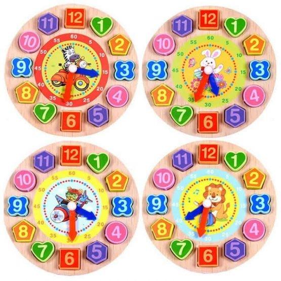 Ceas din lemn 2 in 1 pentru copii [1]