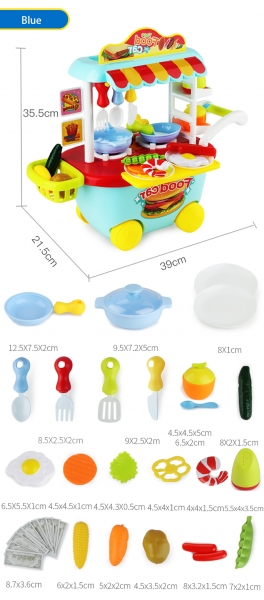 Set Mini Market Copii troler 5