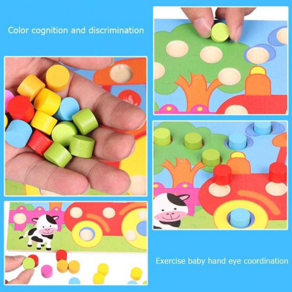 Set 3 planse Joc din lemn sa potrivim culorile 2