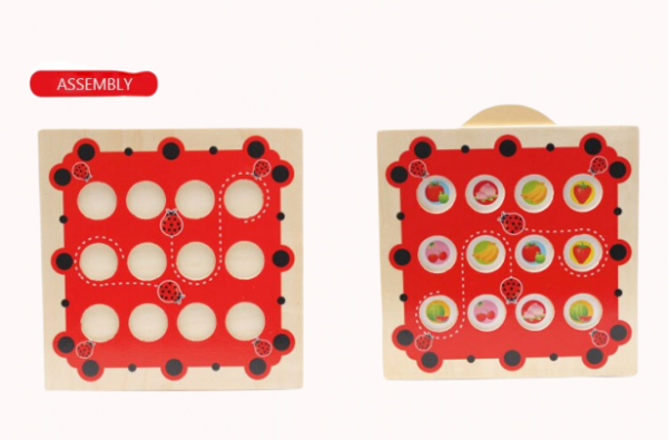 Joc de Memorie din Lemn Ladybug - Joc de memorie din lemn cu planse 4